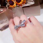 2018 New Pure 925 Sterling Silver <b>Jewelry</b> For Women <b>Wedding</b> Rings Bowknot Design <b>Jewelry</b> 2 Color Rose Gold Silver Rings 678 #