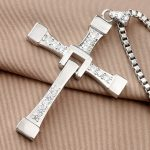 The Fast And Furious 8 Vin Diesel Dominic Toretto Real 925 Sterling <b>Silver</b> Cross Pendant <b>Necklaces</b> For Men Women Free Engraving