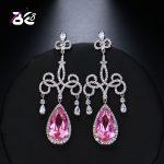 Be 8 New Fashion Water Crystal Drop Earrings, Chandelier Shaped Long Dangle Earrings Vintage <b>Wedding</b> <b>Jewelry</b> for Women E478