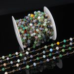 4x6mm 1/3/5/10 meters Bulk Colorful Glass Crystals Faceted Rondelle Beads Chain <b>Jewelry</b>,Rosary Plated Bronze Wire Wrapped Charms