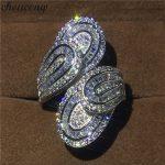 choucong Unique Big Flower Ring 5A Zircon sona Cz 925 <b>Sterling</b> <b>Silver</b> Engagement Wedding Band Rings for women men Finger <b>Jewelry</b>