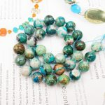 Natural Stone Chrysocolla Approx 11mm Round Loose beads approx 39cm DIY <b>Jewelry</b> <b>Making</b> bracelet necklace