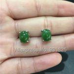 Beautiful Natural 925 <b>Silver</b> Green HeTian Yu Beads Inlay <b>Earring</b> Fashion Gem Stone Woman's <b>Earrings</b> Jewelry Girl's Gift