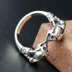 Ecoworld <b>jewelry</b> wholesale 925 Sterling Silver Genuine Ge Skull Ring Silver <b>Handmade</b> Mens retro Silver Ring