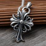 Fasion 925 <b>Sterling</b> <b>Silver</b> Cross Army Flower Pendant Necklace Men Thai <b>Silver</b> Choker <b>Jewelry</b> Gift CH058829