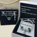 6pcs Fashion <b>Jewelry</b> Set S925 Silver Forest Green Series CZ Dangle Charms and Bracelet Necklaces Set <b>Jewelry</b> <b>Making</b> Woman Gift