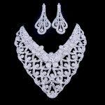 YFJEWE Austrian Crystal Jewelry Set <b>Silver</b> Necklace Bracelet For Women Pendientes Juego De Collar Bride Wedding Collier #N089