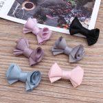 Wholesale 50pcs 30*21MM <b>Handmade</b> Chiffon Fabric Ribbon Bow Knot Button Patch Sticker Craft Fit Girls Hair <b>Jewelry</b> Garment Shoe