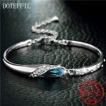 DOTEFFIL Luxury <b>Silver</b> <b>Bracelet</b> 100% 925 Sterling <b>Silver</b> Charm Woman <b>Bracelet</b> AAAA Zircon Jewelry