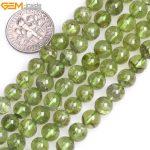 """Gem-inside 7-8mm Natural Stone Beads Round Green Peridot Quartz Beads For <b>Jewelry</b> <b>Making</b> Beads 15"""" DIY Beads Jewellery"""