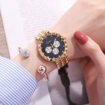 2018 New Fashion Gold rose gold <b>silver</b> women watches Luxury gift set girl <b>Bracelet</b> Dress watch Ladies Quartz Wrist Watches