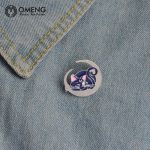 OMENG 2017 Fashion Enamel Pin for Woman Brooch Pin Button Jeans Bag <b>Decoration</b> Gift <b>Jewellery</b> Gifts OXZ008