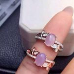 Natural rose quartz stone Ring Natural pink crystal ring 925 sterling <b>silver</b> trendy branches Flowers women's girl gift <b>Jewelry</b>