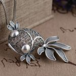 FNJ 925 Silver Fish Pendant 100% Pure S990 Solid Thai Silver Pendants for Women Men <b>Jewelry</b> <b>Making</b>