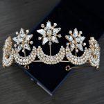 Korean Brides Accessories Wedding Headdress <b>Handmade</b> Crystal Hair Ornaments Hair Hoops Baroque Star Crown Bridal <b>Jewelry</b> CR107