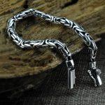Pure 925 <b>Silver</b> <b>Bracelet</b> Width 5-8mm 17cm to 25cm Classic Link Chain S925 Thai <b>Silver</b> <b>Bracelets</b> for Women Men Jewelry