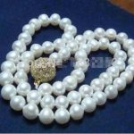 New Arrival 8-9mm White Freshwater Pearl Necklace 18 Inch DIY Women Girl Hot Sale <b>Jewelry</b> <b>Making</b> Design Fashion Style Wholesale