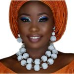 4UJewelry Latest 2018 African Bridal Beads White <b>Jewelry</b> Set <b>Handmade</b> Balls Necklace Set for Nigerian Party Free Shipping Dubai