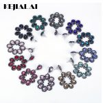 KEJIALAI Luxury <b>Handmade</b> <b>Jewelry</b> Multicolor Water Drop Crystal Pave Rhinestone Big Hyperbole Long Drop Dangle Earrings For Women
