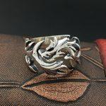 S925 Sterling Silver <b>Jewelry</b> <b>Handmade</b> Retro Thai Silver Personal Ring Men 's Fire Dragon Ring Fashion