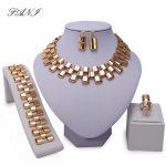 Fani New Imitation Pearl Dubai Gold-color <b>Jewelry</b> set Brand Fashion African Beads Costume Acessories Bridal <b>wedding</b> <b>Jewelry</b> Sets