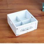 1PC Zakka grocery white wood debris desktop box wholesale <b>supplies</b> Home Furnishing retro old storage box JL 0919