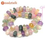 Natural Stone Beads Colorful Crystals Pink Purple 10×14 mm Disc Tube Faceted for DIY <b>Jewelry</b> Making <b>Supplies</b>