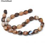 10x14mm High Quality Banded Coffee color Agate Twist Stone Loose Beads Fashion <b>Jewelry</b> Making <b>Supplies</b>