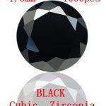 MRHUANG AAA Grade CZ Cubic Zirconia BLACK Round Zircon Stone 1.0/1.1/1.2/1.25MM DIY <b>Jewelry</b> Findings <b>Supplies</b>