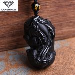 Counter genuine Obsidian Pendant Necklace and wool Zhaocai paragraph Dashun brave wholesale <b>supply</b> of natural <b>jewelry</b> Made China