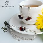 Lotus Fun Moment Real 925 <b>Sterling</b> <b>Silver</b> Natural Stone Handmade Fashion Vintage Cute Teapot Jewelry Set for Women Bijoux