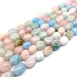 New Arrival Colorful Mixed Morganite Stone Beads Smooth Nugget 10-14 mm DIY <b>Jewelry</b> Making <b>Supplies</b>