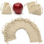 Mayitr 30Pcs Small Linen Bag Natural Linen Jute Sack <b>Jewelry</b> Pouch Drawstring Bag 10*8CM For Storage <b>Supplies</b>
