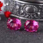 natural pink topaz stone stud <b>earrings</b> 925 <b>silver</b> Natural Pink gemstone <b>earring</b> women fashion Brilliant <b>Earrings</b> for anniversary