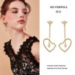 Silverwill 2018 brand new <b>Sterling</b> 925 <b>Silver</b> chinese style dangle <b>earrings</b> for girls Geometry fashion jewelry good luck gift