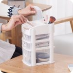 Storage Box Case Desktop Holder Drawer Household <b>Supplies</b> NAI YUE 2 Layers Desktop Cosmetics Makeup Tool Organizer Stationery