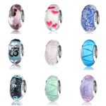 Hot sale silver 925 sparkling Murano glass beads collection charms fit authentic pandora bracelet diy fashion <b>jewelry</b> <b>supply</b>