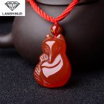Counter genuine natural red pendant necklace <b>jewelry</b> and the fox can love Wang peach wholesale <b>supply</b>