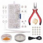 <b>Jewelry</b> Making <b>Supplies</b> Kit <b>Jewelry</b> Repair PliersTool <b>Jewelry</b> Findings Kit .Beading Cord Jump Rings and Lobster Clasps KY001