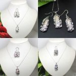 Women's Wedding 4 styles Fashion <b>Jewelry</b> Natural Baroque Biwa Pearl Pendant Chain Necklace Earrings Set real silver –<b>jewelry</b>