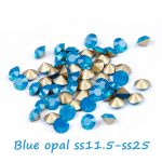 Crystal Rhinestones ss11.5-ss25 Blue Opal Round Pointback Machine Cut Glass Stones Perfect For <b>Jewelry</b> Decoration DIY <b>Supplies</b>