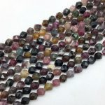 High Quality Natural Colorful Tourmaline Stone Beads Faceted Cut Cube Diagonal 5mm 7mm 9 mm DIY <b>Jewelry</b> Making <b>Supplies</b>