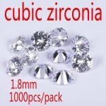 1.8mm White Cubic Zirconia Stone AAA Grade CZ Round Zircon Pedra de Zirconia DIY Beads <b>Supplies</b> for <b>jewelry</b> wholesale