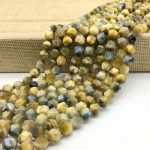 New Arrival Natural Blue Golden Mixed Tiger Eye Stone Beads Faceted Cut Cube Bicone Spacer 5 7 mm DIY <b>Jewelry</b> Making <b>Supplies</b>