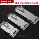 Rarelock Christmas <b>Supplies</b> 33*75mm Hasp Sliding Door Lock Stainless for Gate Window Baby Care <b>Jewelry</b> Cabnit DIY Accessories a