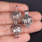 10pcs Silver House Pearl Cage <b>Jewelry</b> Making <b>Supplies</b> Bead Cage Pendant Essential Oil Diffuser For Pearl Jewellry