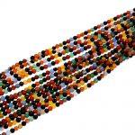 Fashion Diy Multi-color Mix 4mm Agat Round Rainbow Color Agat E Onyxs Beads Full Strand <b>Jewelry</b> <b>Supply</b> 10 Full Strand