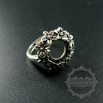 10mm setting size flower round bezel tray 925 sterling silver ring setting DIY <b>jewelry</b> <b>supplies</b> 1213028