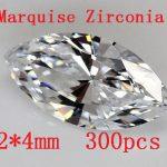 MRHUANG 300pcs/pack Marquise Zircon 2*4MM AAA Grade Marquise Shape Cubic Zirconia DIY <b>Jewelry</b> Findings <b>Supplies</b> Shine