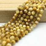 High Quality Golden Yellow Tiger Eye Stone Beads Faceted Cut Cube Bicone 6 8 10 mm DIY <b>Jewelry</b> Making <b>Supplies</b>